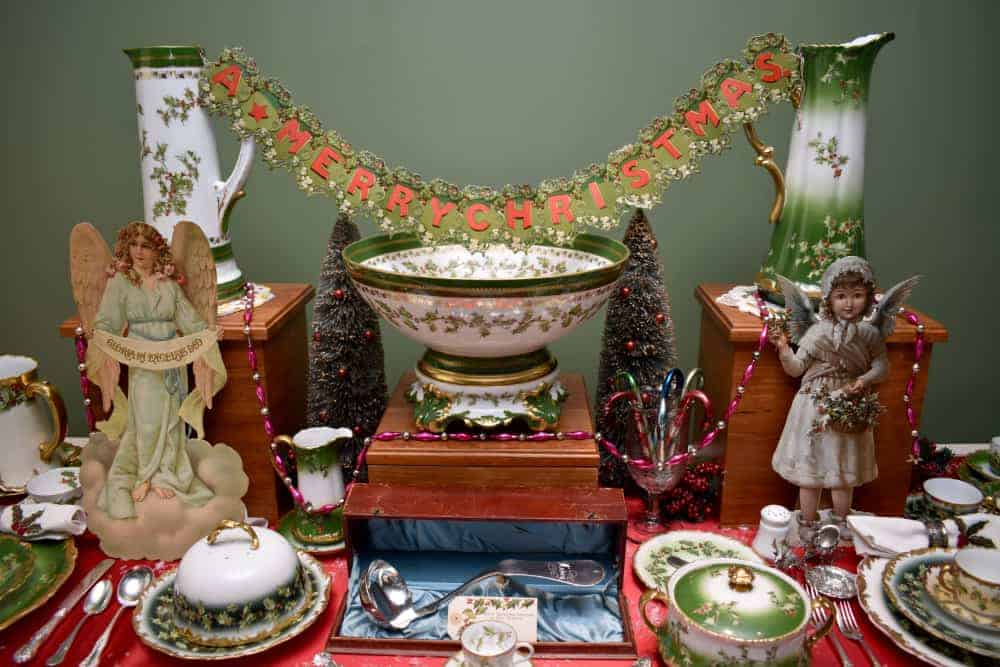 Table Scape at Taft Museum of Art's Antique Christmas
