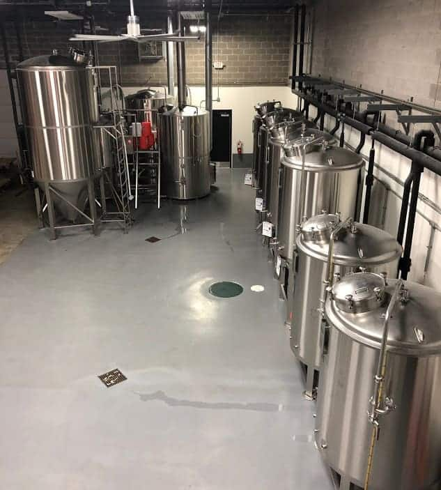 Beer being brewed at Streetside Brewery