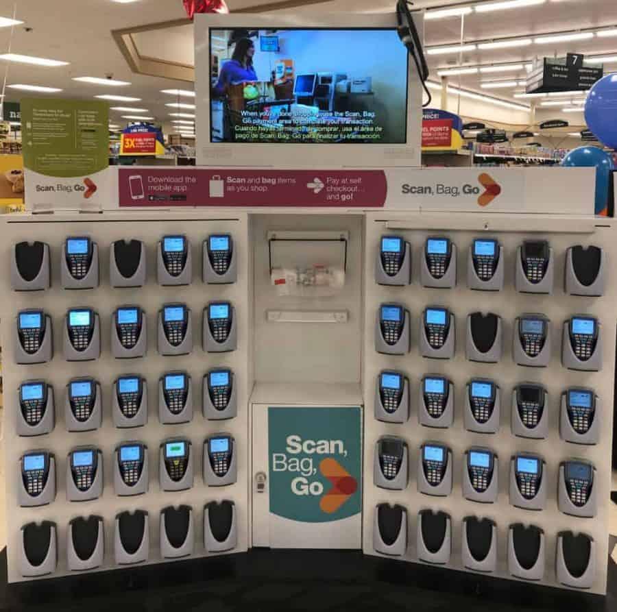 Scan Bag Go scanner kiosk at Kroger
