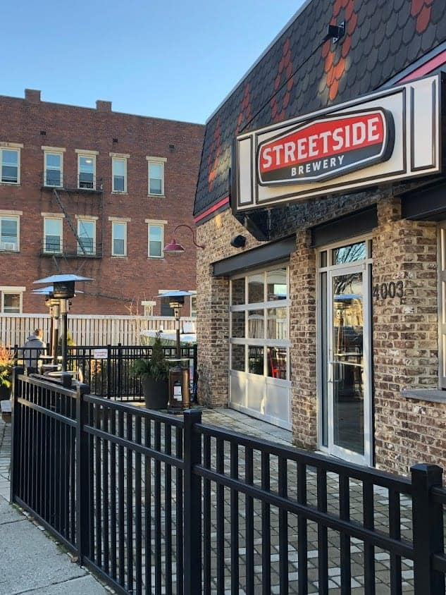 Outdoor Seating at Streetside Brewery
