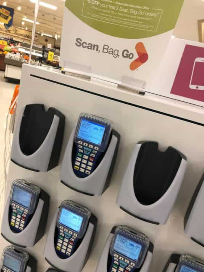 Scan Bag and Go scanners at Kroger