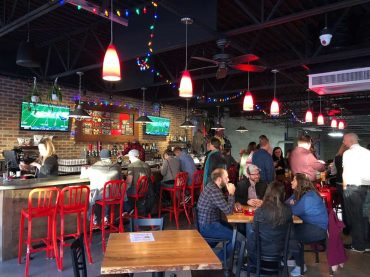 The taproom at Streetside Brewery