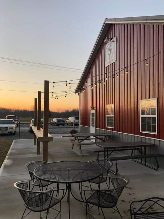 Patio at Sons of Toil Brewing