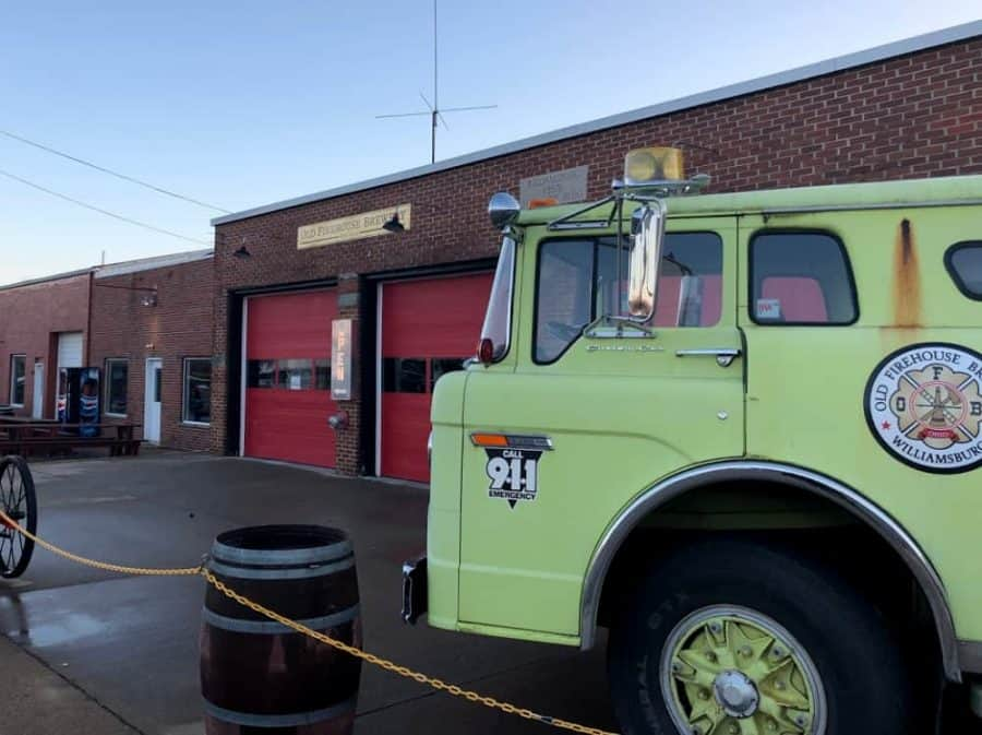 Old Firehouse Brewing from truck side of street