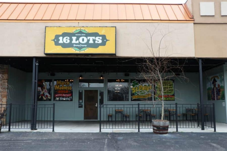 16 lots brewery front entrance