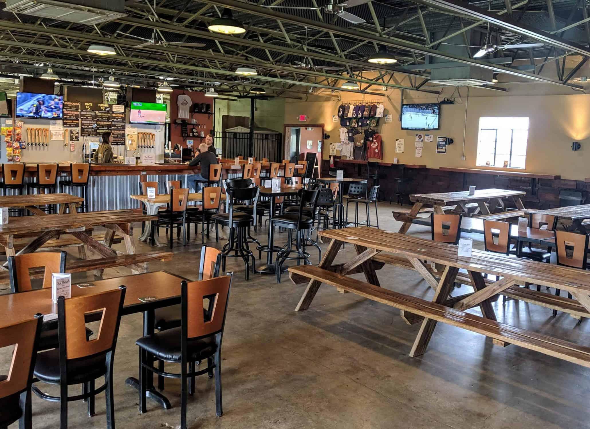 13 below Brewery taproom seating