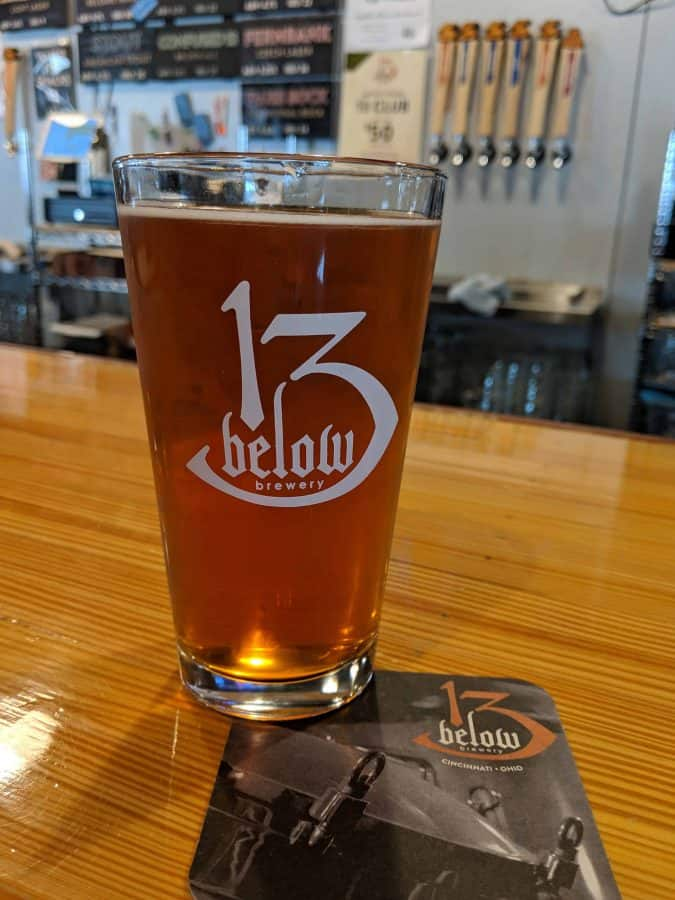 beer at 13 Below Brewing