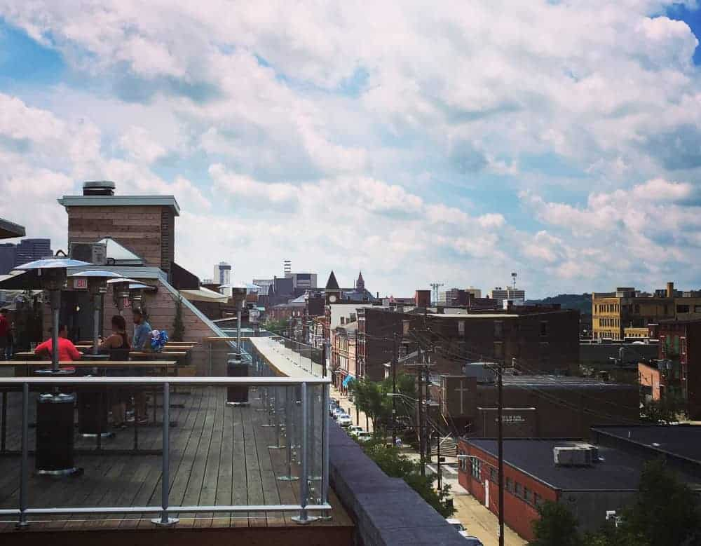 rhinegeist rooftop bar downtown Cincinnati view