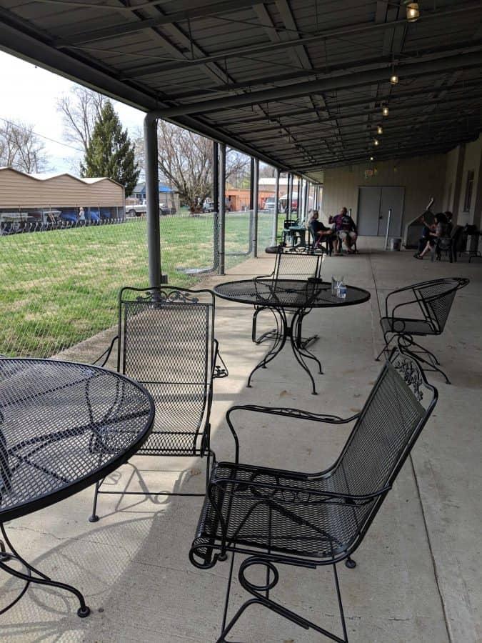 outdoor patio at 13 Below Brewery