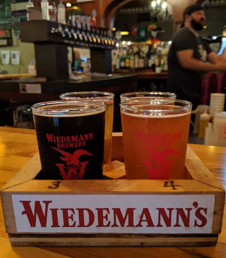 Beer Flight at Wiedemann's Brewery