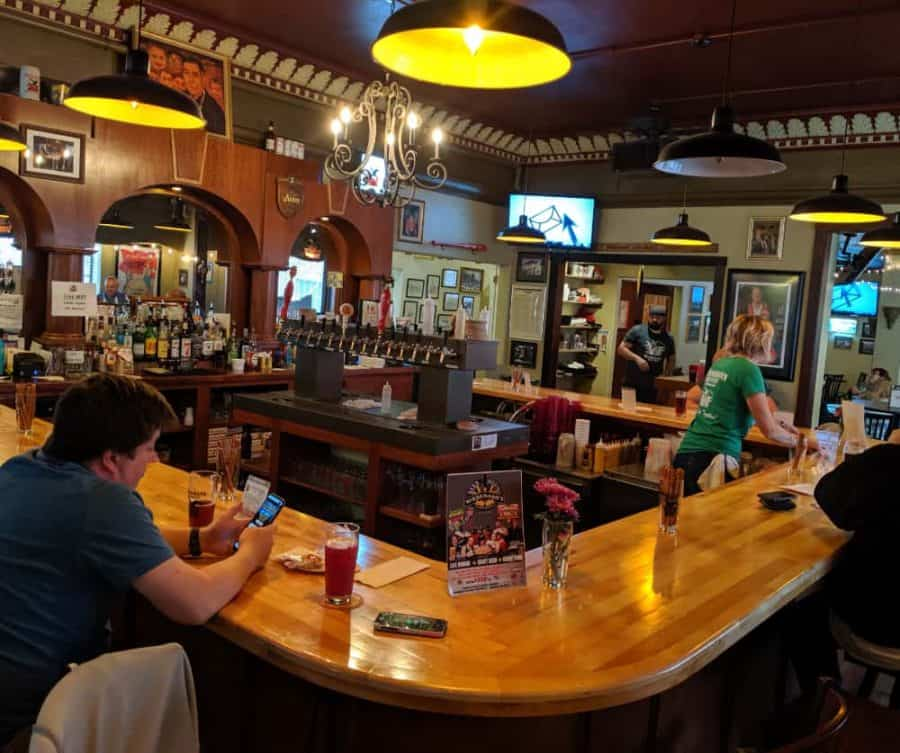 Wiedemann Brewery's bar