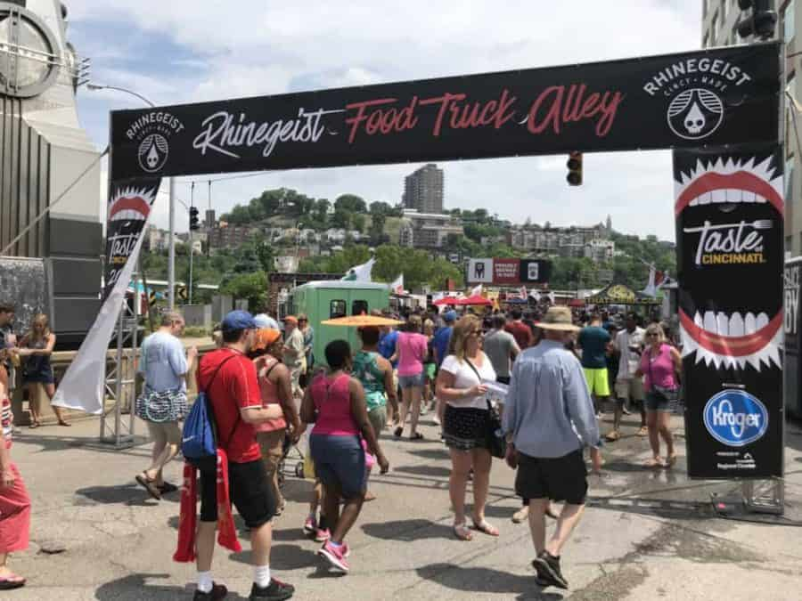 Food Truck Alley at Taste of Cincinnati