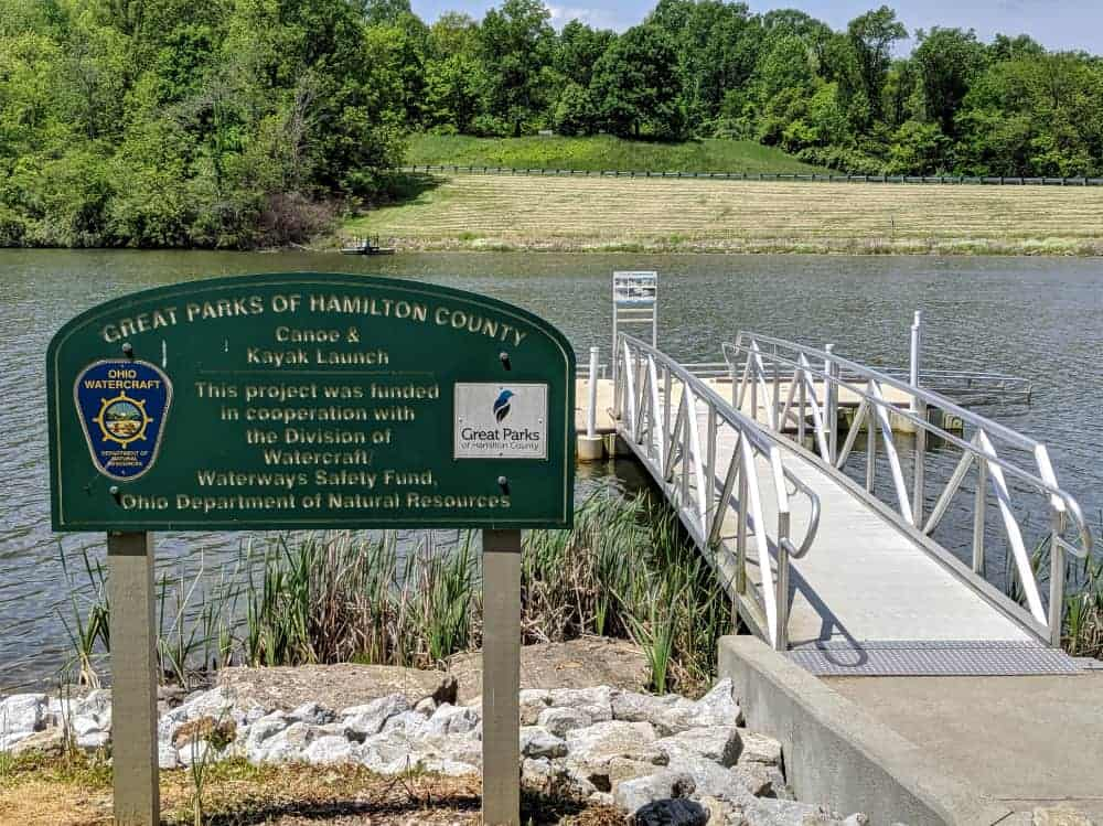Accessible canoe and kayak launch at Miami Whitewater