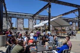 outdoor space at madtree brewing