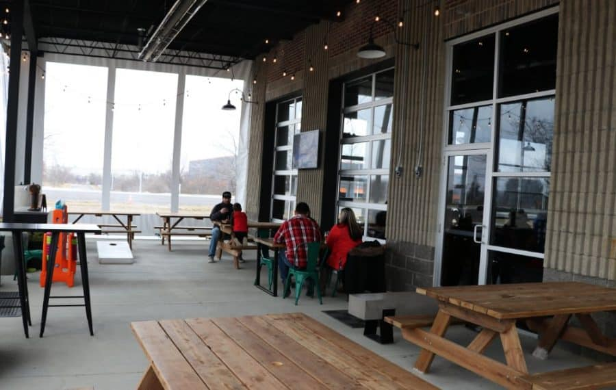 outdoor space at sonder brewing