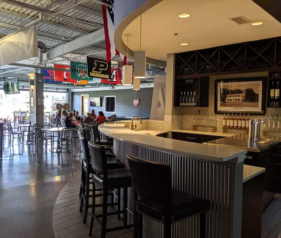 bourbon bar in taproom at march first