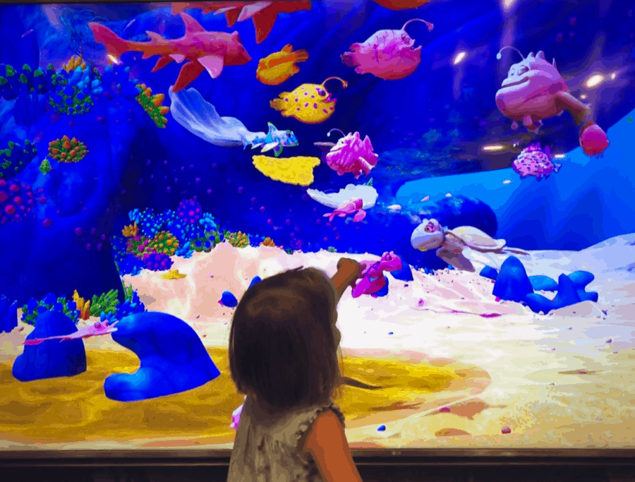 the joy of seeing your artwork in the tank