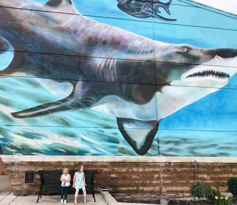 outside the Newport Aquarium