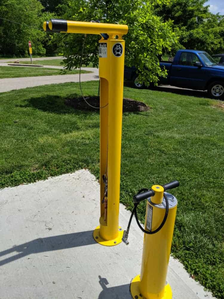 Bike repair station at Miami Whitewater