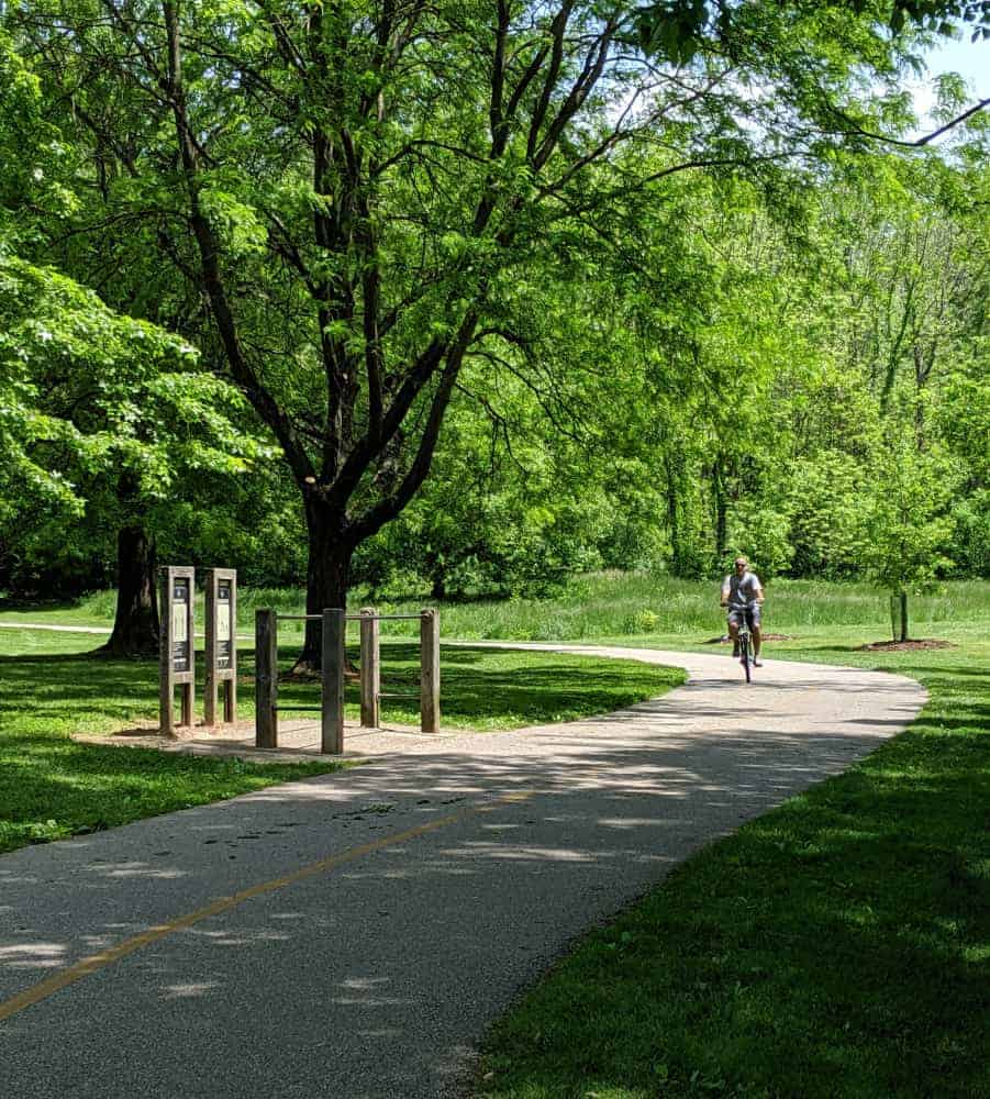 Bicycle trails at Miami Whitewater Forest