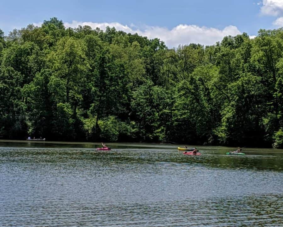 kayaking at Miami Whitewater Forest