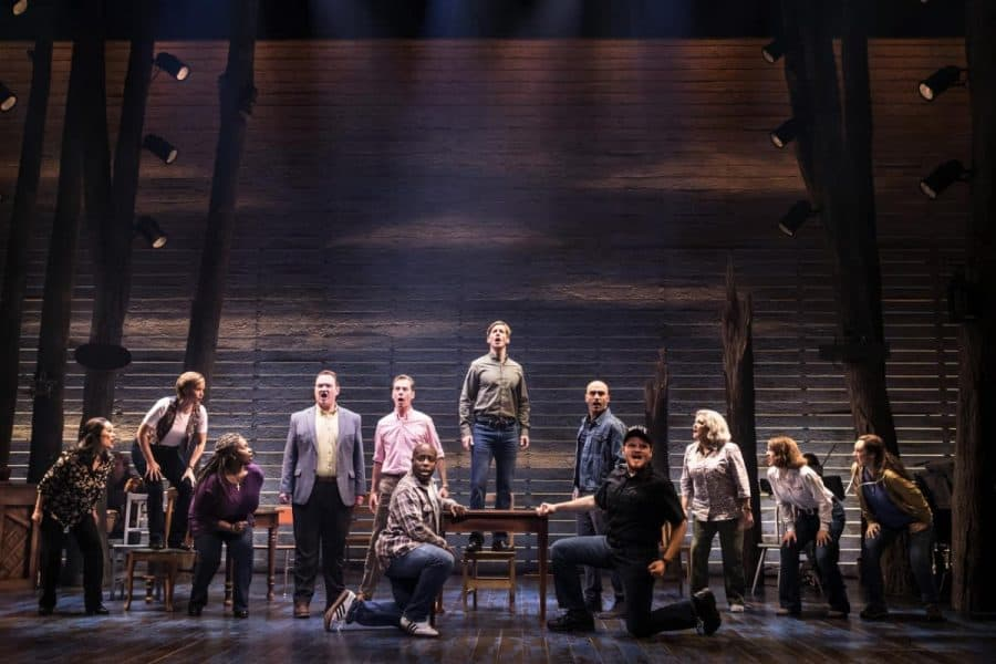 cast on the plane for Come From Away