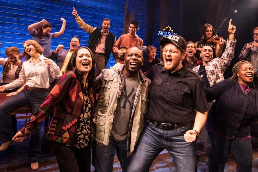 The cast from Come From Away