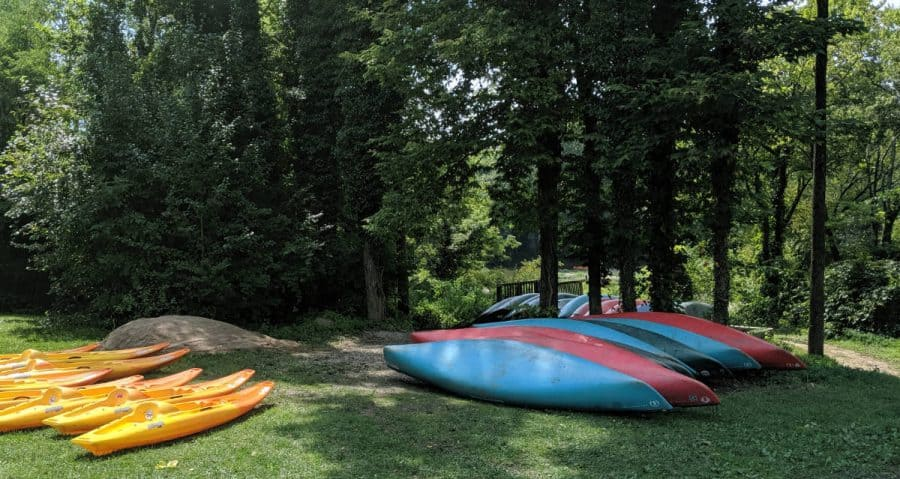 Kayaks and Canoes at Fifty West