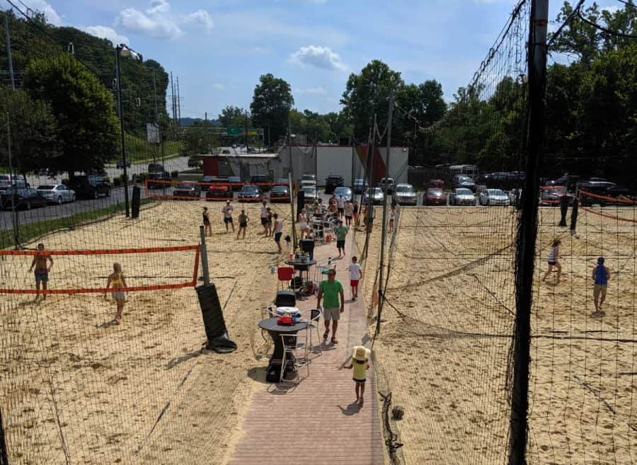 Volleyball at Fifty West Brewing