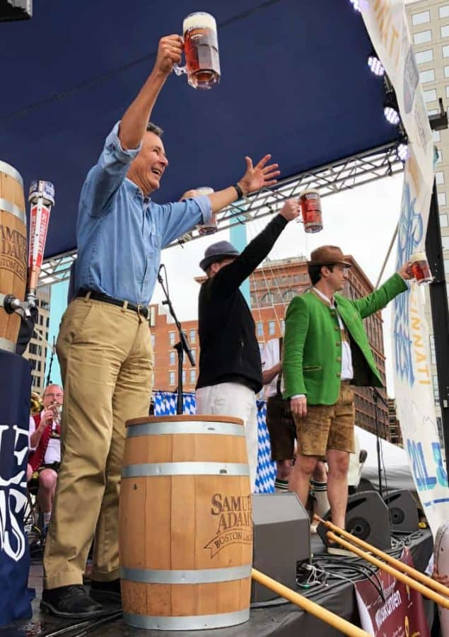 Sam Koch leads the Opening Ceremonies at Oktoberfest Cincinnati