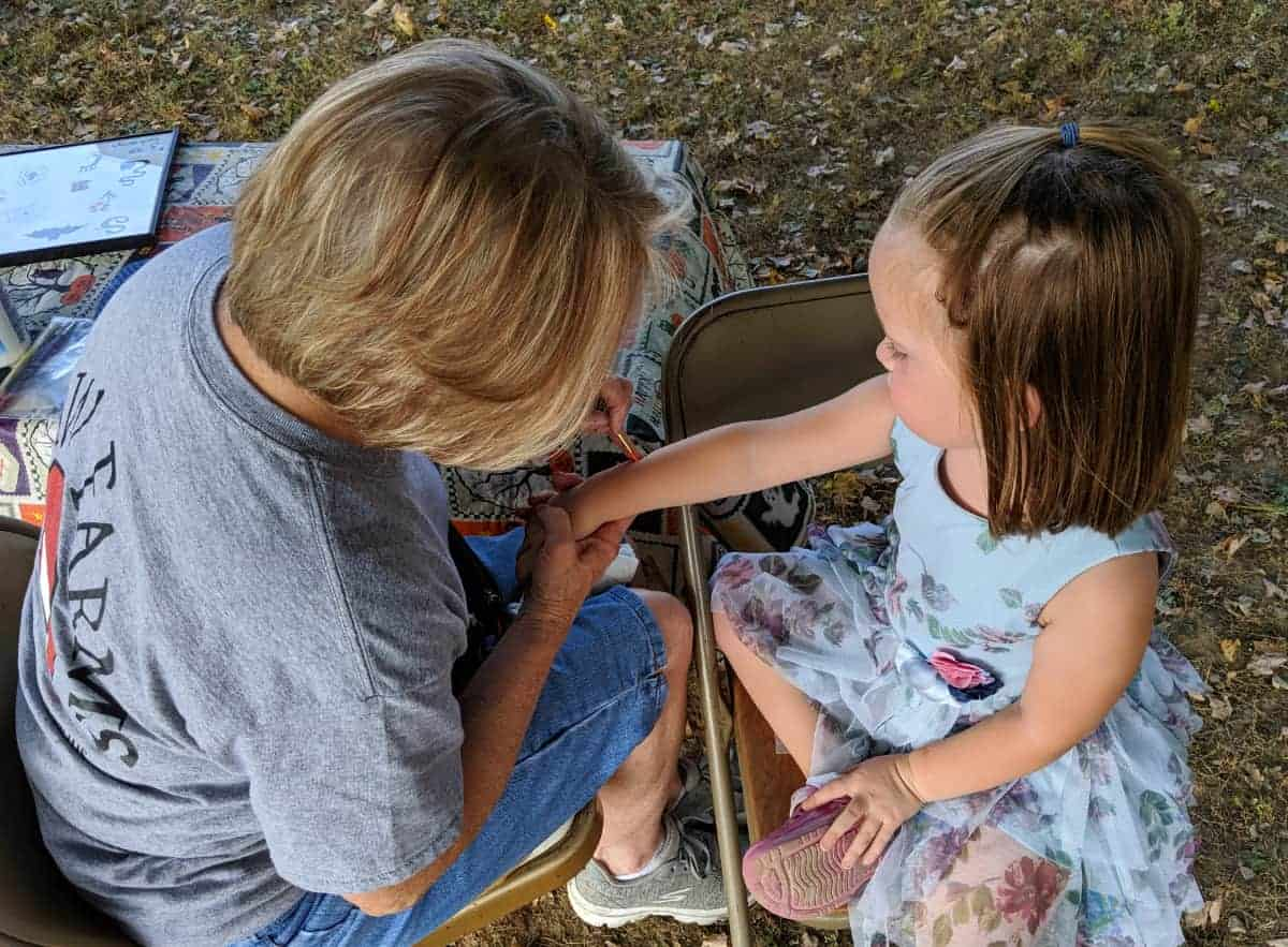 Face Painting at the Fall Festival