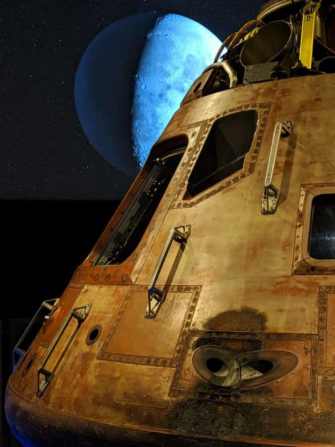 Apollo 11 as part of the Smithsonian's traveling exhibit, Destination Moon