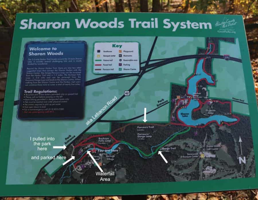 Sharon Woods Trail System Map