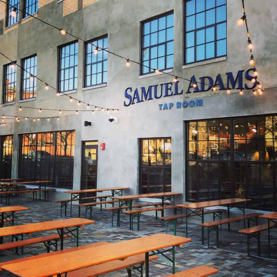 outdoor seating at Sam Adams Tap Room