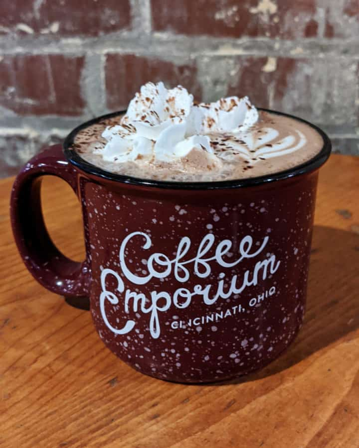 Hot cocoa from Coffee Emporium in Over the Rhine