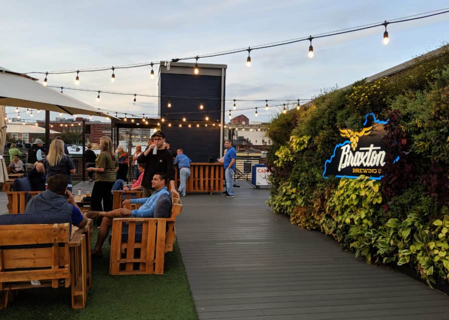 Rooftop Bar at Braxton Brewery