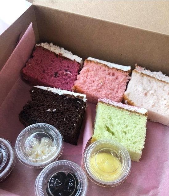 Bridal Cake Samples in Box