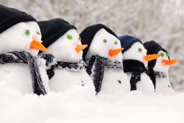 Snowmen in January