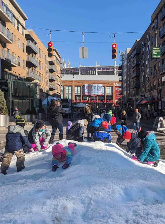 snow pile at Snow at the Banks