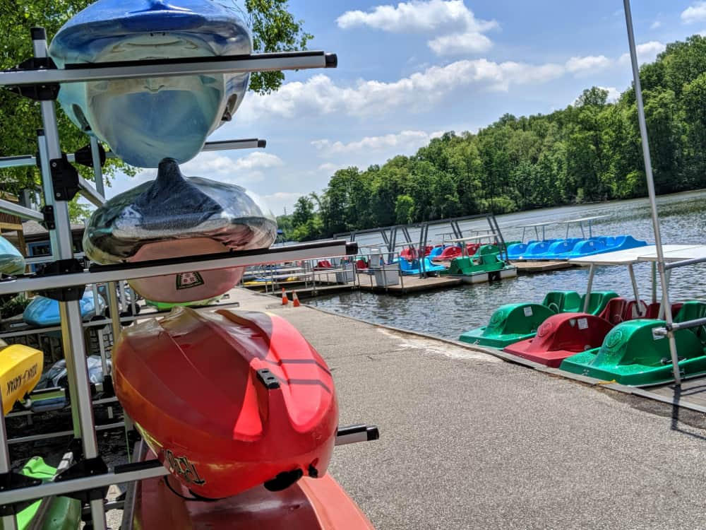 rentals at the boathouse of Miami Whitewater