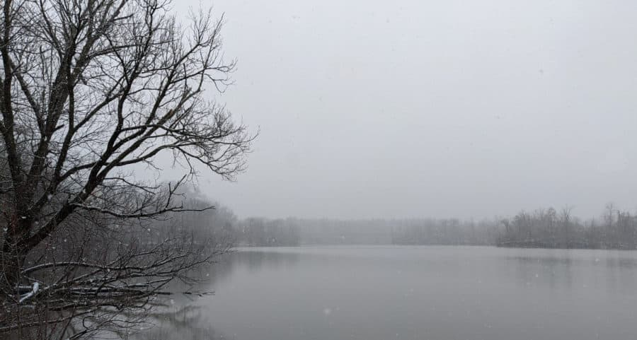 The lake at Winton Woods