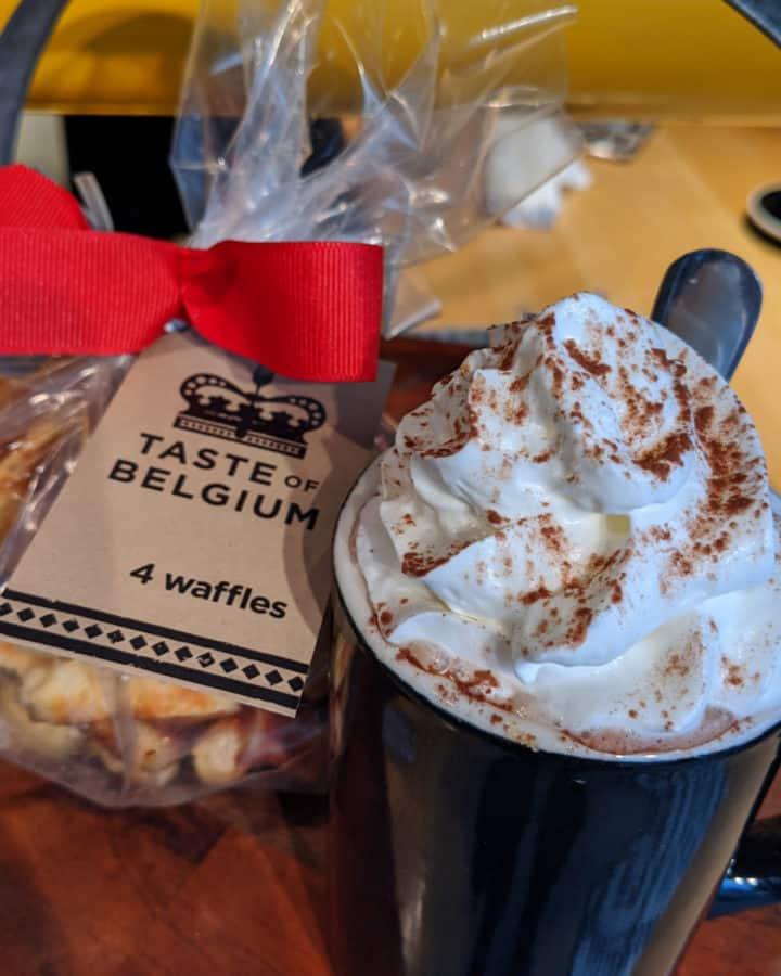 Hot Chocolate at Taste of Belgium in Over the Rhine