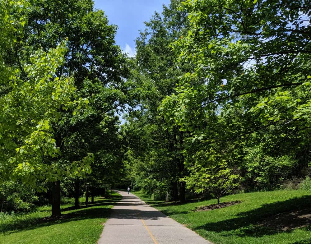Walking trails at Miami Whitewater