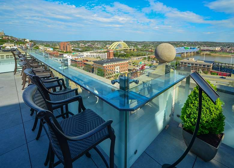 Enjoy your staycation with rooftop views of Cincinnati
