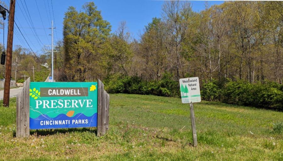 Caldwell Nature Preserve signage
