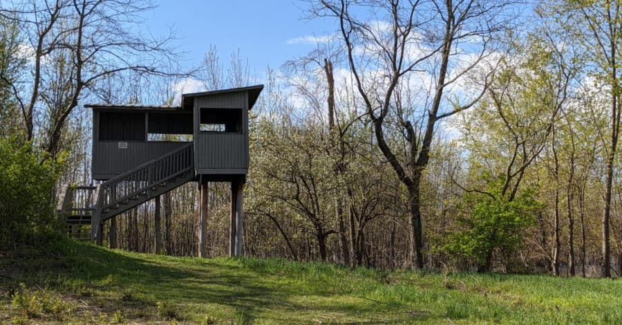 bird blind at Gilmore MetroPark