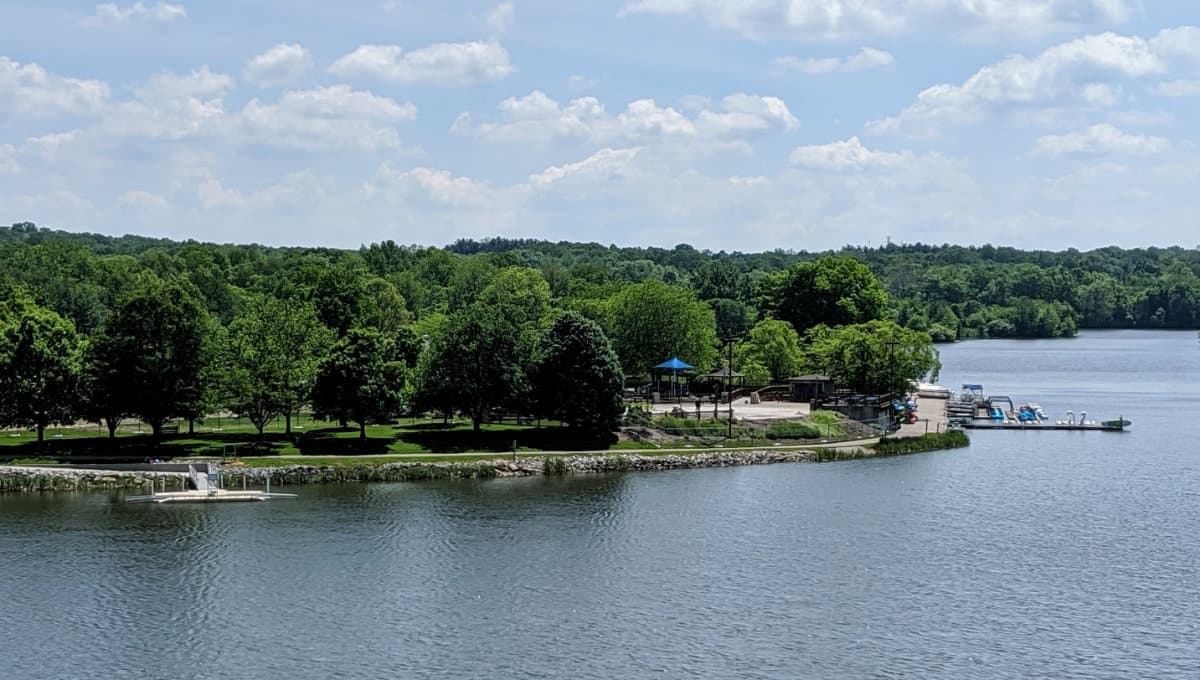 the lake at Miami Whitewater Forest