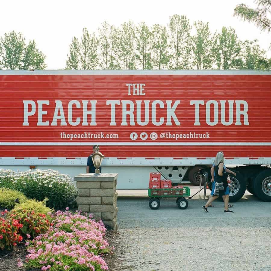 The Peach Truck out on tour