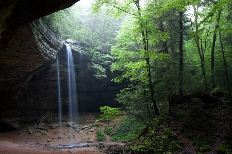 Waterfall at Ash Can in Hocking Hills