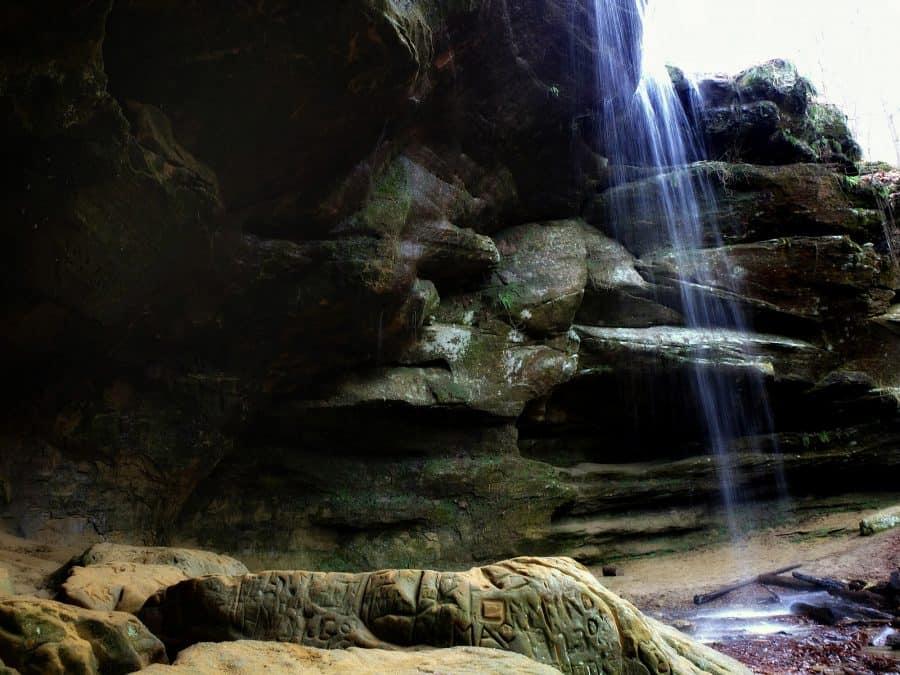 Big and Little Lyon Falls waterfall in Ohio